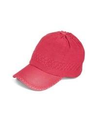 Collection XIIX Crochet Baseball Cap Pink Pop One Size