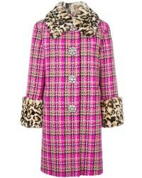 Marc Jacobs Checked Tweed Coat