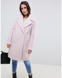 ASOS DESIGN Oversized Textured Pastel Coat