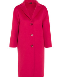 Gucci Oversized Wool And Angora Blend Coat Pink