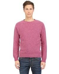Hot Pink Crew-neck Sweater