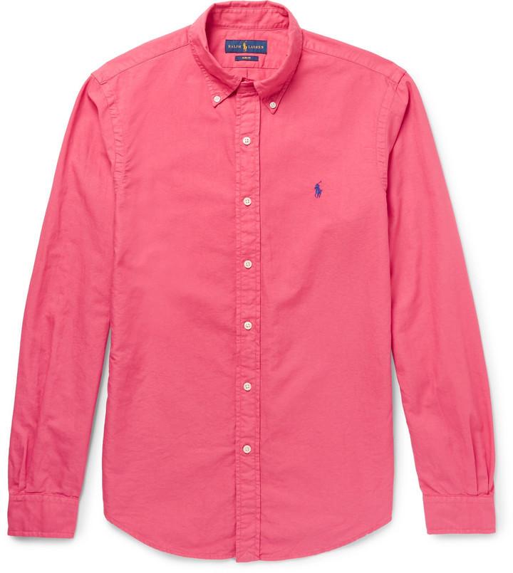 Ralph Lauren Slim-fit Button-down Collar Cotton Oxford Shirt - Red mlNXV3