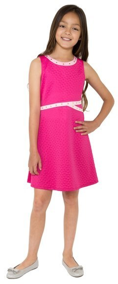 5356dd5853ca4 Blush by Us Angels Girls Embossed Scuba Fit Flare Dress, £50 ...