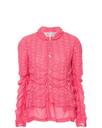 Comme Des Garçons Vintage Embroidered Sheer Jacket