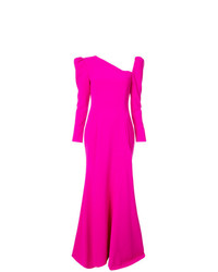 Christian Siriano Long Sleeve Flared Dress