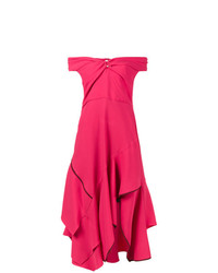 Peter Pilotto Pink Sweetheart Cold Shoulder Dress