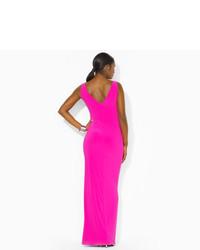 Ralph Lauren Surplice Jersey Gown