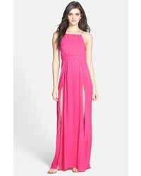 Wildfox Couture Wildfox Gigi Open Back Voile Maxi Gown