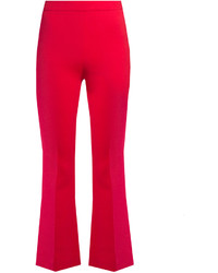 Giambattista Valli High Rise Flared Cotton And Silk Blend Trousers