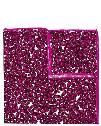 Hot Pink Floral Pocket Square