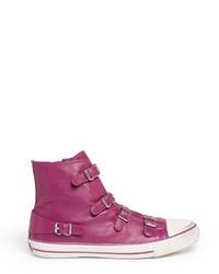 Hot Pink High Top Sneakers