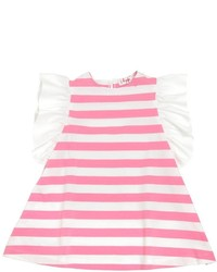 Hot Pink Horizontal Striped Dress