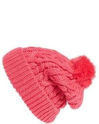Knit pompom beanie pink medium 807088