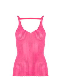 MSGM Ribbed V Neck Vest Top