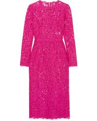 Dolce & Gabbana Corded Lace Midi Dress