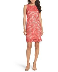 Hot Pink Lace Shift Dress