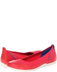 Hot Pink Leather Ballerina Shoes