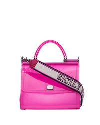 Dolce & Gabbana Pink Sicily Transparent Pvc Shoulder Bag
