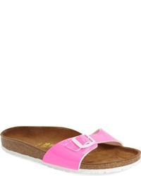 sneakers for cheap a757b 53b79 Hot Pink Leather Flat Sandals for Women | Women's Fashion ...