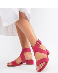 ASOS DESIGN Federal Wide Fit Flat Sandals