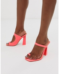 ASOS DESIGN Hydrate Toe Loop Barely There Heeled Sandals