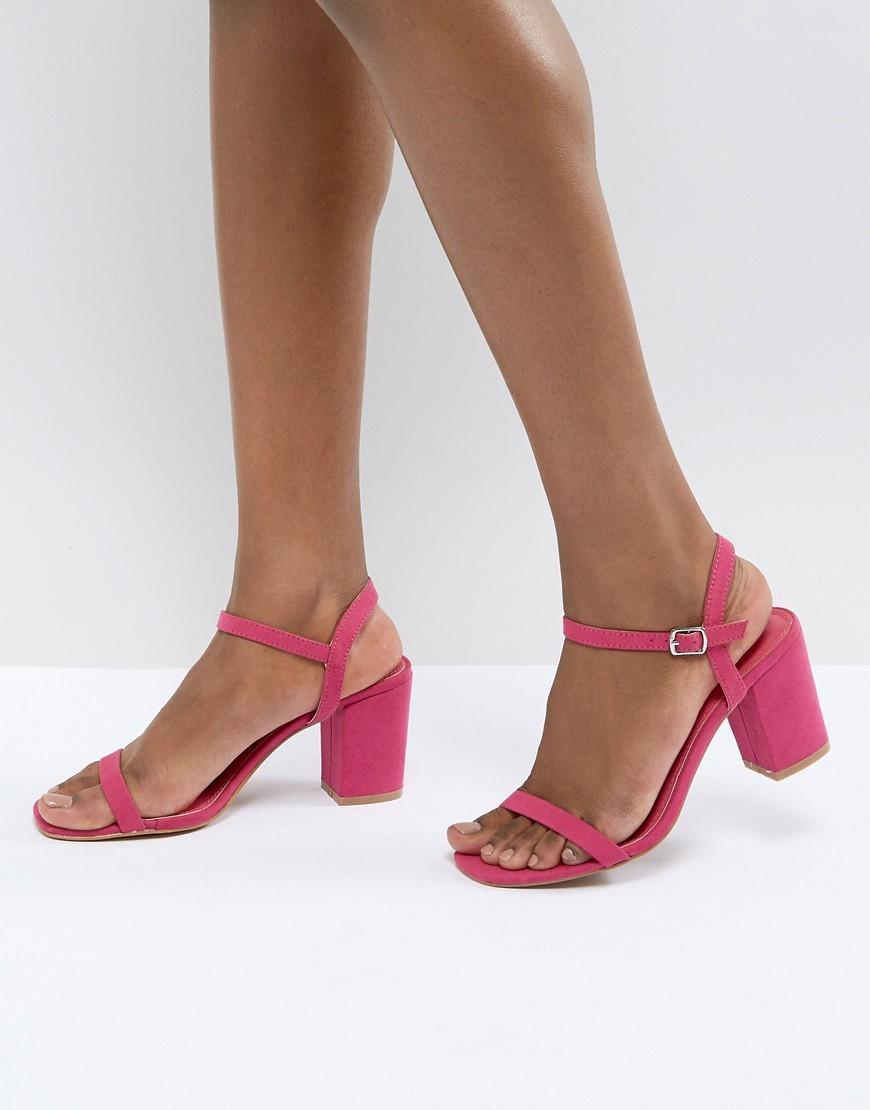 ad04b529b54a ... Glamorous Pink Block Heel Sandals