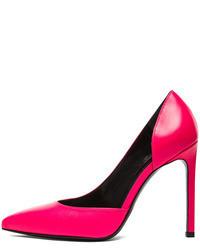 Saint Laurent Paris Dorsay Calfskin Leather Heels