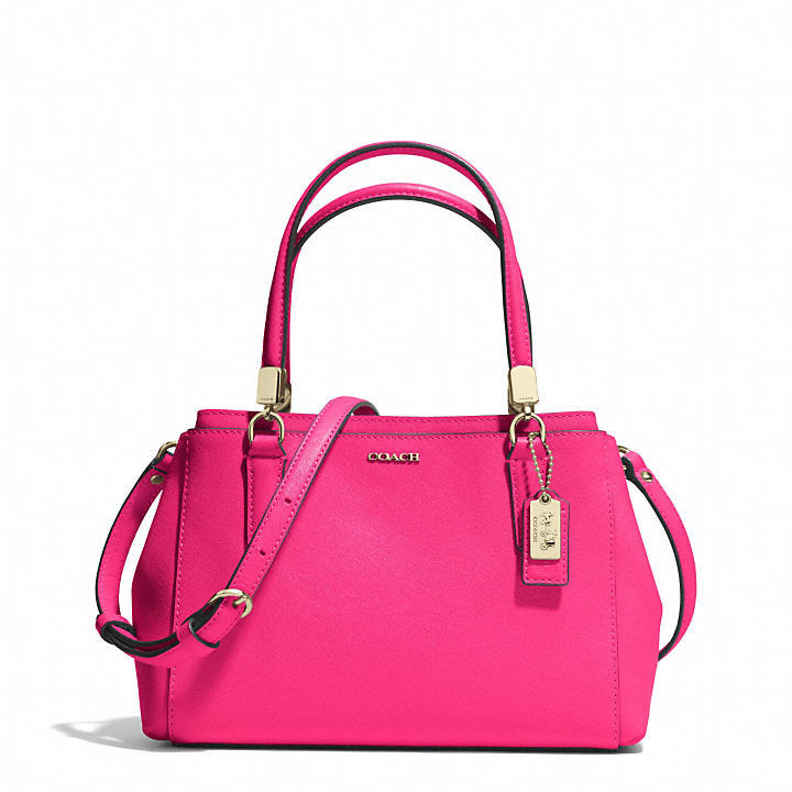 ... best pink leather satchel bags coach madison mini christie carryall in  saffiano leather coach fashion loveit 6a7aead5ae
