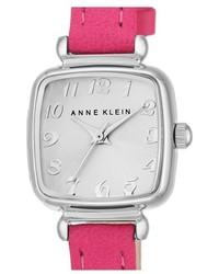 Anne Klein Leather Strap Watch 22mm
