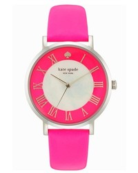 Kate Spade New York Metro Grand Round Leather Strap Watch 38mm