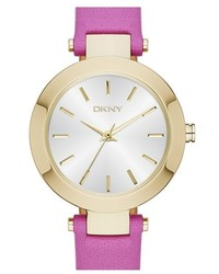 DKNY Stanhope Leather Strap Watch 28mm