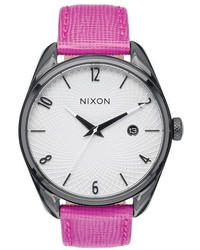 Nixon The Bullet Leather Strap Watch 38mm
