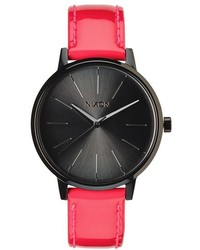Nixon The Kensington Patent Leather Strap Watch 37mm