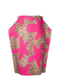 Comme Des Garçons Vintage 2d Leopard Skirt