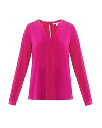 Hot Pink Long Sleeve Blouse