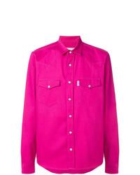 AMI Alexandre Mattiussi Press Button Ami Fit Shirt