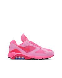 Hot Pink Low Top Sneakers