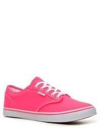 Hot Pink Low Top Sneakers