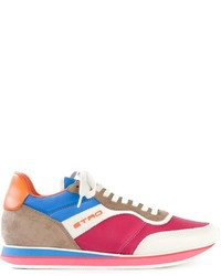 Etro Panelled Lace Up Trainers