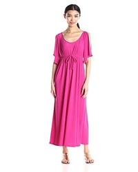 Star Vixen Slit Flutter Sleeve Maxi Dress With Empire Drawstring Waist