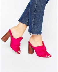 Asos Twilights Knotted Heeled Mules 5445580d086