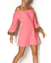 Hot Pink Peasant Dress