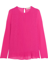 MICHAEL Michael Kors Michl Michl Kors Pleated Crepe Top Pink