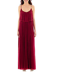 Hot Pink Pleated Maxi Dress