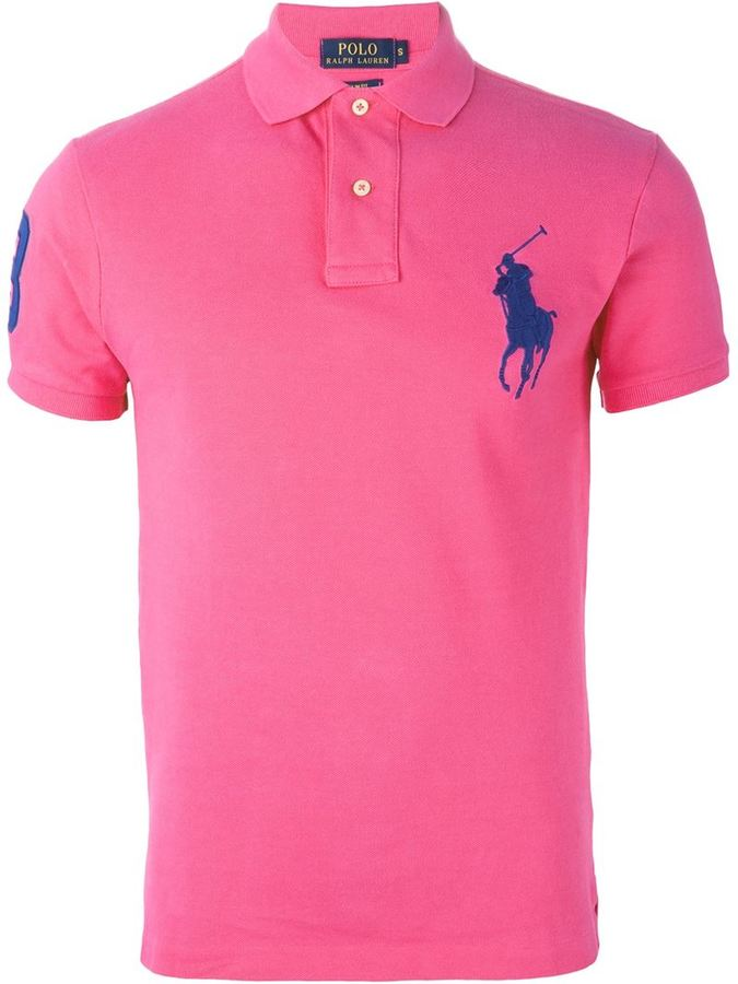 35b617d413120 Polo Ralph Lauren Logo Embroidered Polo Shirt, £102   farfetch.com ...
