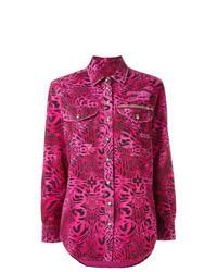 Hot Pink Print Dress Shirt