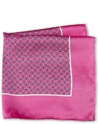 Hot Pink Print Pocket Square