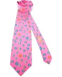 Hot Pink Print Tie