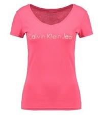 Calvin Klein Print T Shirt Pink