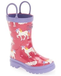 Hatley Toddler Girls Unicorns Rainbows Waterproof Rain Boot